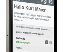 Tal-App als mobile Webseite